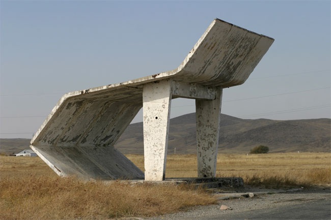 soviet roadside bus-stops